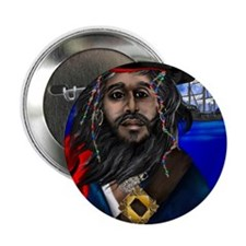 "Pirate and Ship PosterP 2.25"" Button"