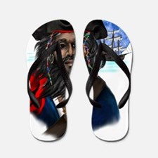 Pirate and Ship Trans Flip Flops