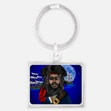 Pirate and Ship-Yardsign Landscape Keychain