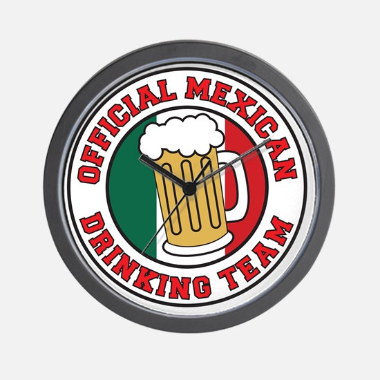 Official Mexican Drinking Team Wall Clock