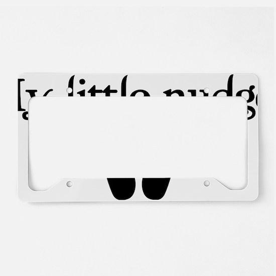NUDGER License Plate Holder