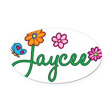 Jaycee Oval Car Magnet