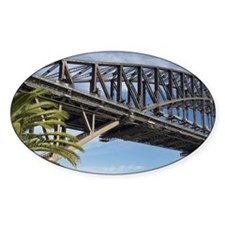 Couple Walking by Sydney Harbor Bri Decal