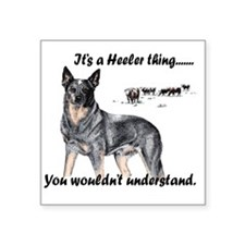 """Its A Heeler Thing.... Square Sticker 3"""" x 3"""""""