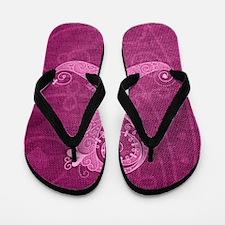 11x17_CurlyRibbon_PinkLGT Flip Flops
