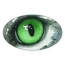 cat eye green Decal