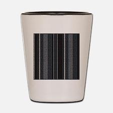 TexturedStriped_BW Shot Glass