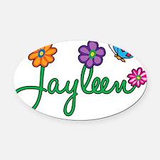 Jayleen Oval Car Magnet