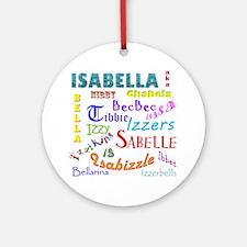Isabellanicks Round Ornament