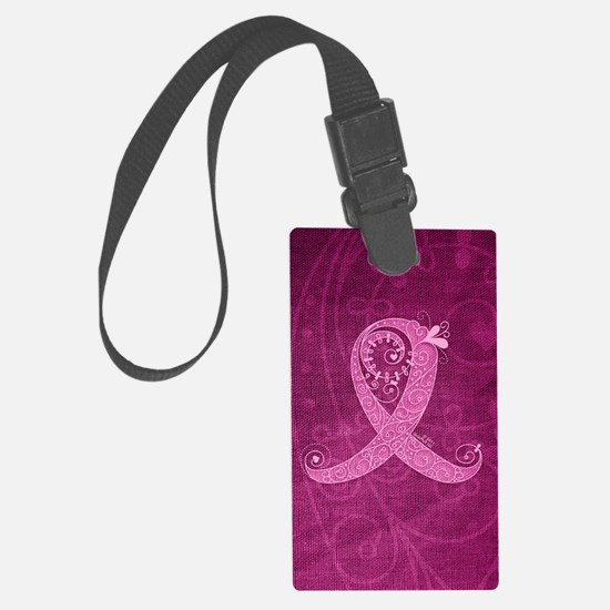 kindle_CurlyRibbon_PinkLGT Luggage Tag