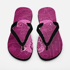 kindle_CurlyRibbon_PinkLGT Flip Flops