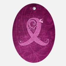 kindle_CurlyRibbon_PinkLGT Oval Ornament