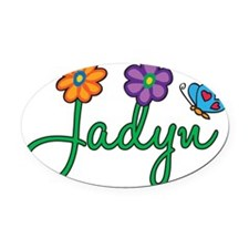 Jadyn Oval Car Magnet