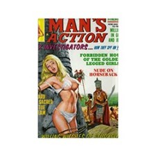 MANS ACTION, June 1969 - 18hiX300 Rectangle Magnet