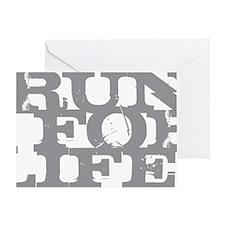 Run for Life Gray Greeting Card