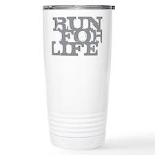 Run for Life Gray Travel Mug