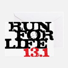 Run for Life 13 Greeting Card