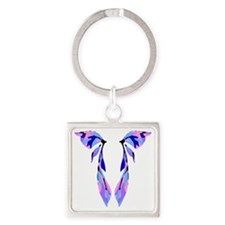 fairywings2 Square Keychain