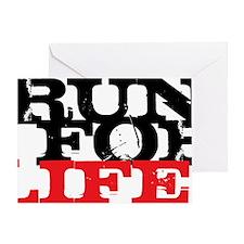 Run for Life Greeting Card
