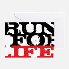 Run for Life Greeting Card