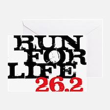 Run for Life 26 Greeting Card