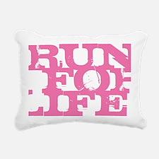 Run for Life Pink Rectangular Canvas Pillow