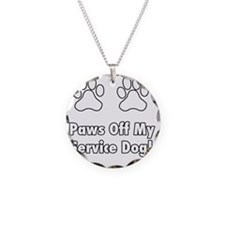 Paws off my service dog! Necklace