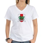 Midrealm Draco Invictus Women's V-Neck T-Shirt