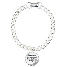 Bloom Education Quote Charm Bracelet, One Charm