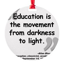 Bloom Education Quote Ornament