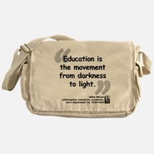 Bloom Education Quote Messenger Bag