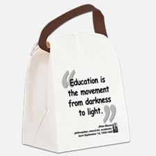 Bloom Education Quote Canvas Lunch Bag