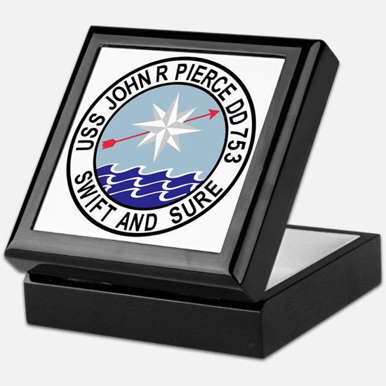 DD-753 USS John R Pierce Destroyer Sh Keepsake Box