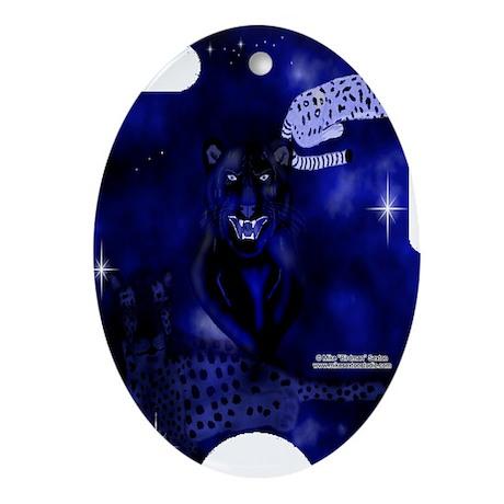 SpiritLeopardsSliderCase Oval Ornament