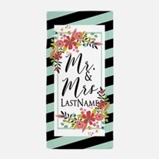 Floral Garden Mr and Mrs Wedding Perso Beach Towel