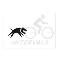 big dog intervals drk Postcards (Package of 8)