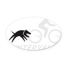 big dog intervals drk Oval Car Magnet