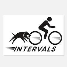 big dog intervals blk Postcards (Package of 8)