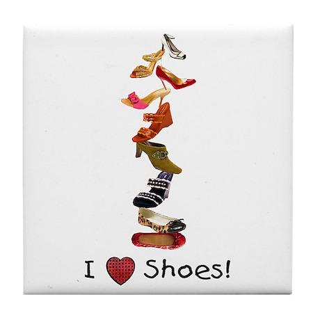 I love shoes Tile Coaster