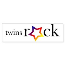 Twins Rock (Star) - Bumper Bumper Sticker