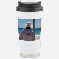 Lifeguard watching people relax Travel Mug