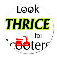 1_LookThrice Round Car Magnet