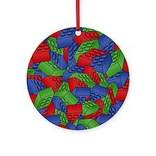 men_wallet_01 Round Ornament