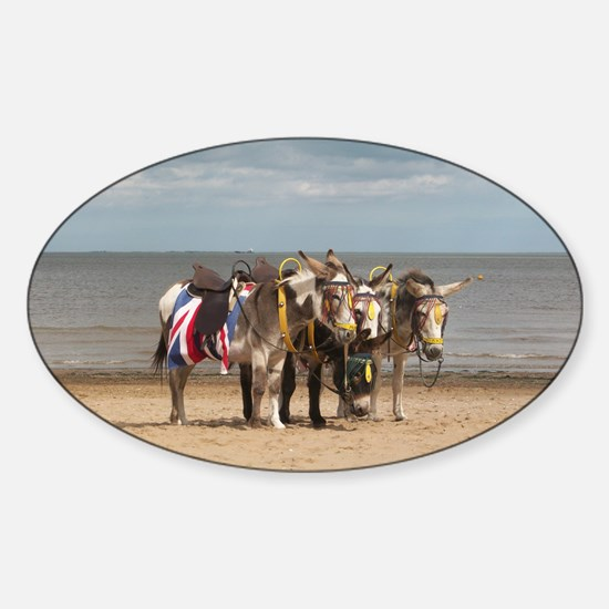 In the Donkey Ride Que Sticker (Oval)