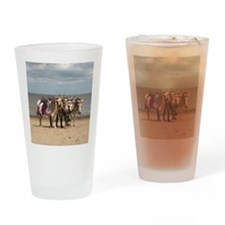 In the Donkey Ride Que Drinking Glass