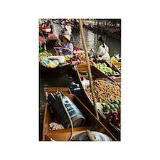 Damnoen Saduak Floating Market, 2 Rectangle Magnet