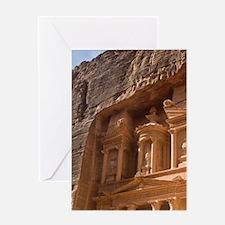 Facade of the landmark Treasury carv Greeting Card