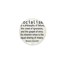 churchillsocialismshirt2.gif Mini Button