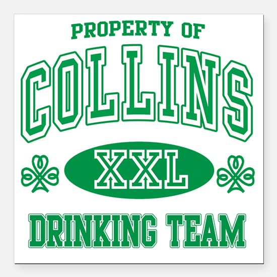 "Collins Irish Drinking T Square Car Magnet 3"" x 3"""