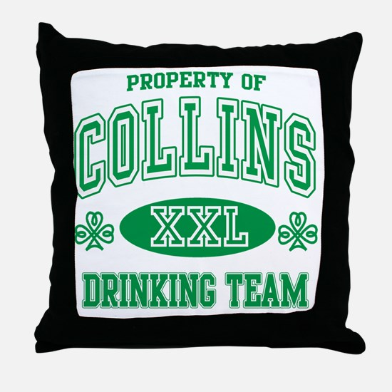 Collins Irish Drinking Team Throw Pillow